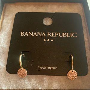 Pave disc drop earrings